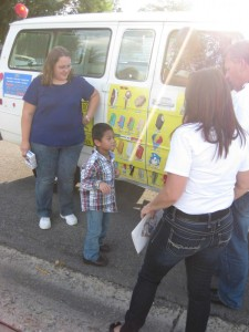 The ice cream truck came just for Patrick.